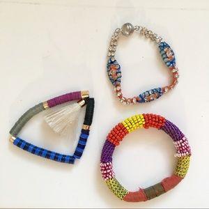 Anthro Bracelet Bundle - 3 Boho Embellished